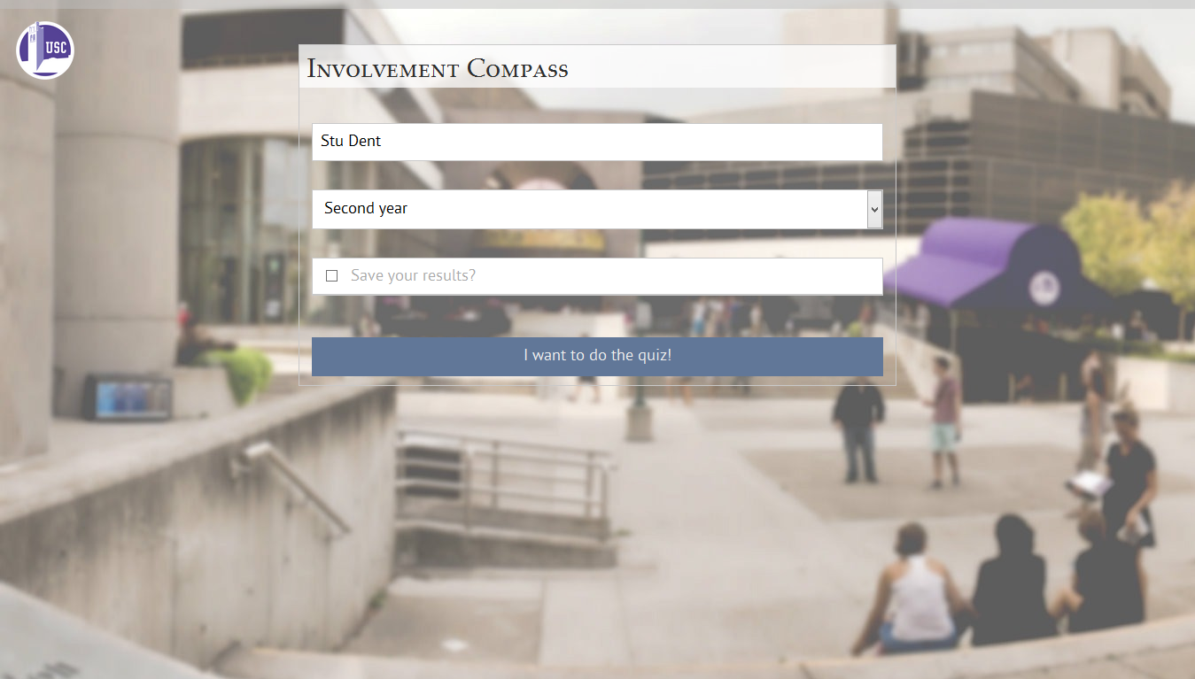 Screenshot of the former Involvement Compass